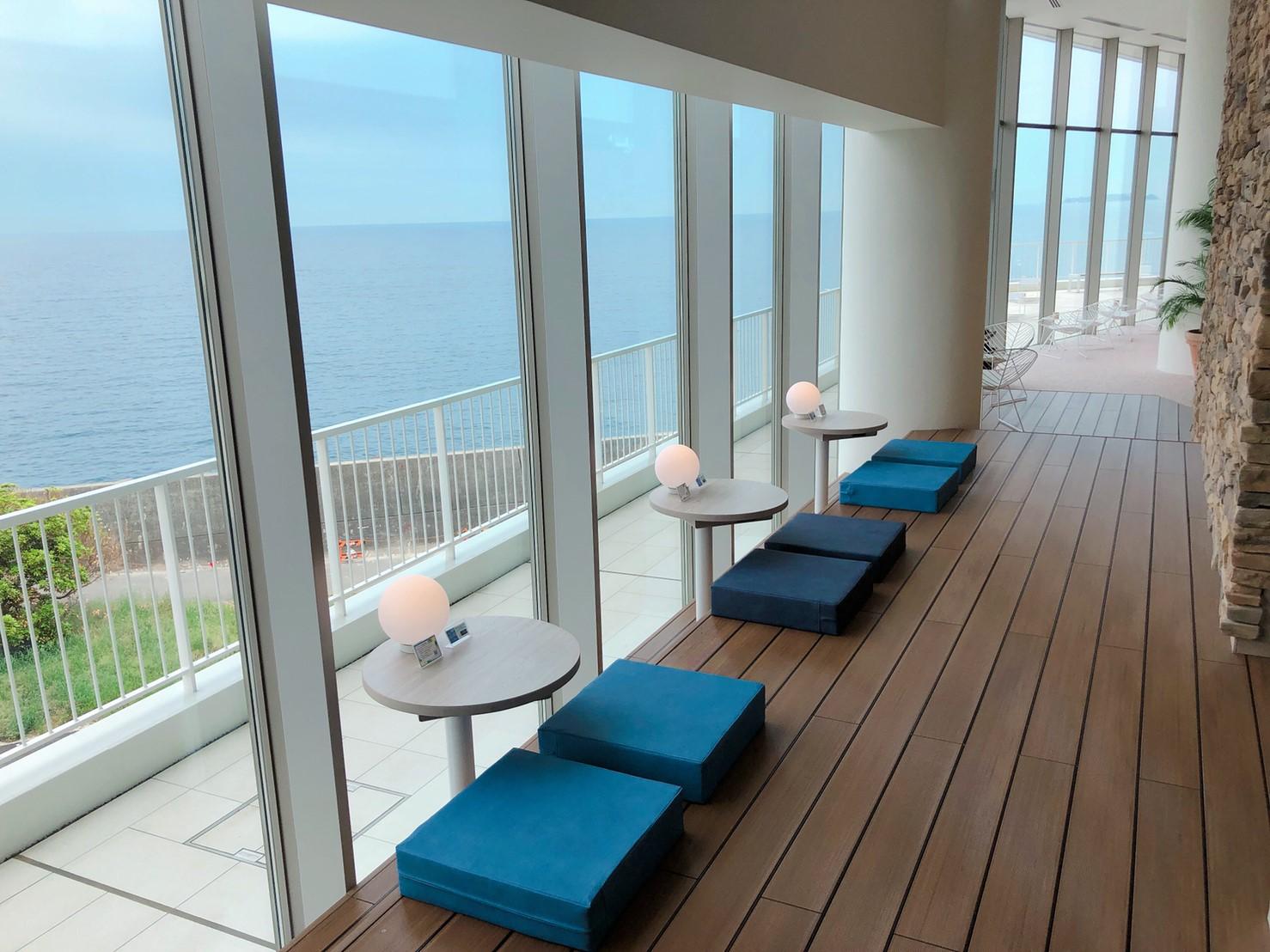 『熱海ベイリゾート後楽園スパFuua』で海が見えるペアシート